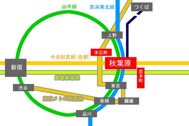 秋葉原路線図