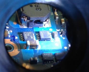 CF-J10のチップコンデンサ