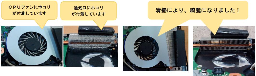 CPUファン清掃