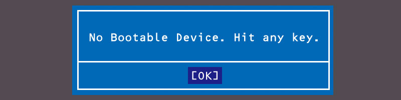 No bootable devices(青)